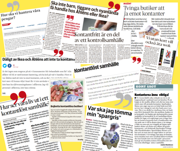 Collage notiser kontanter.fw