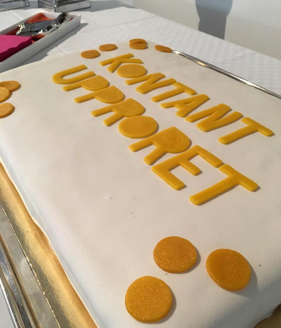 Kontantupproret tårta