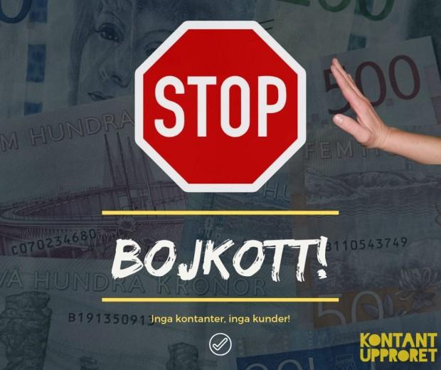 bojkott kontanter